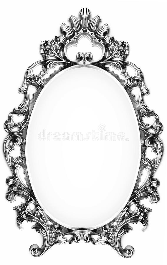 Uitstekend zilveren frame royalty-vrije stock fotografie