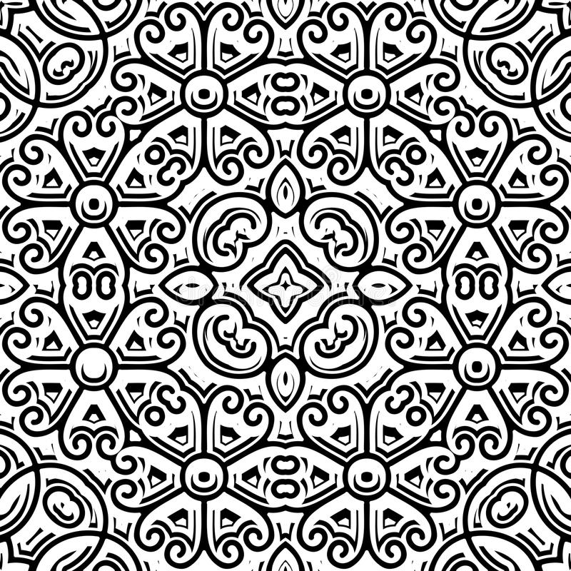 Uitstekend zwart-wit patroon vector illustratie