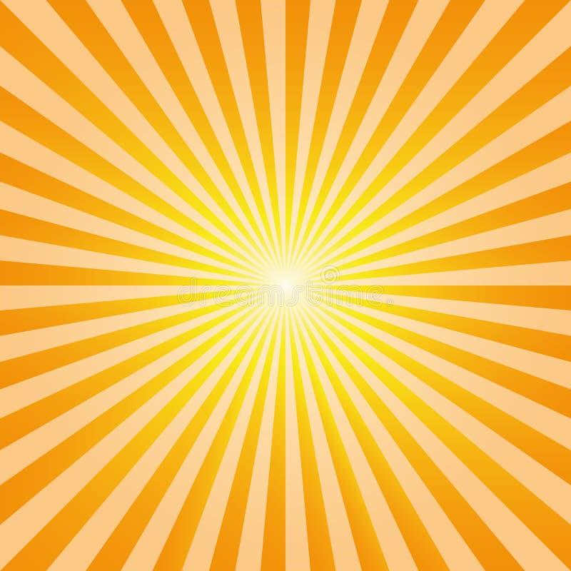 Uitstekende abstracte de stralenvector van de achtergrondexplosiezon royalty-vrije illustratie