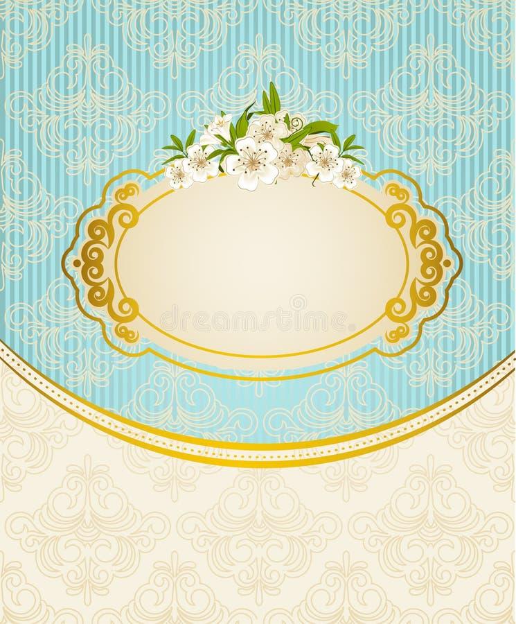 Uitstekende achtergrond met bloemen vector illustratie