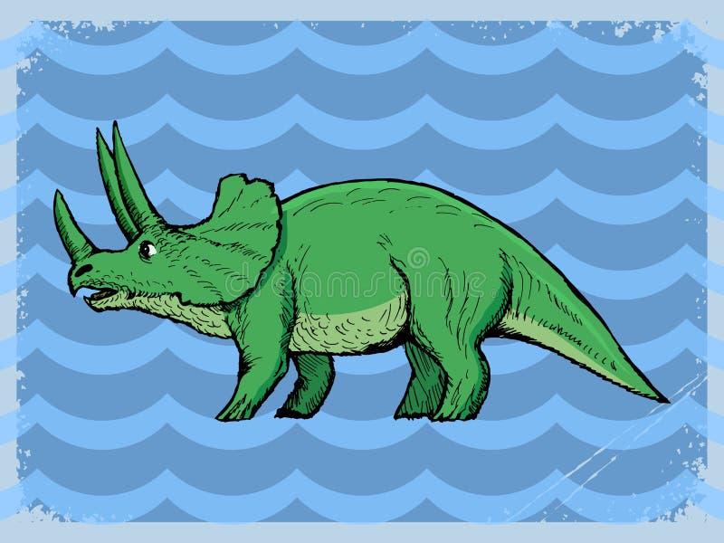 Download Uitstekende Achtergrond Met Dinosaurus Stock Illustratie - Illustratie bestaande uit af, frame: 54092596