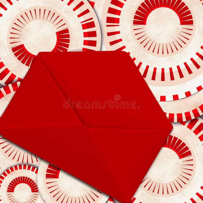 Uitstekende achtergrond met envelop stock afbeeldingen
