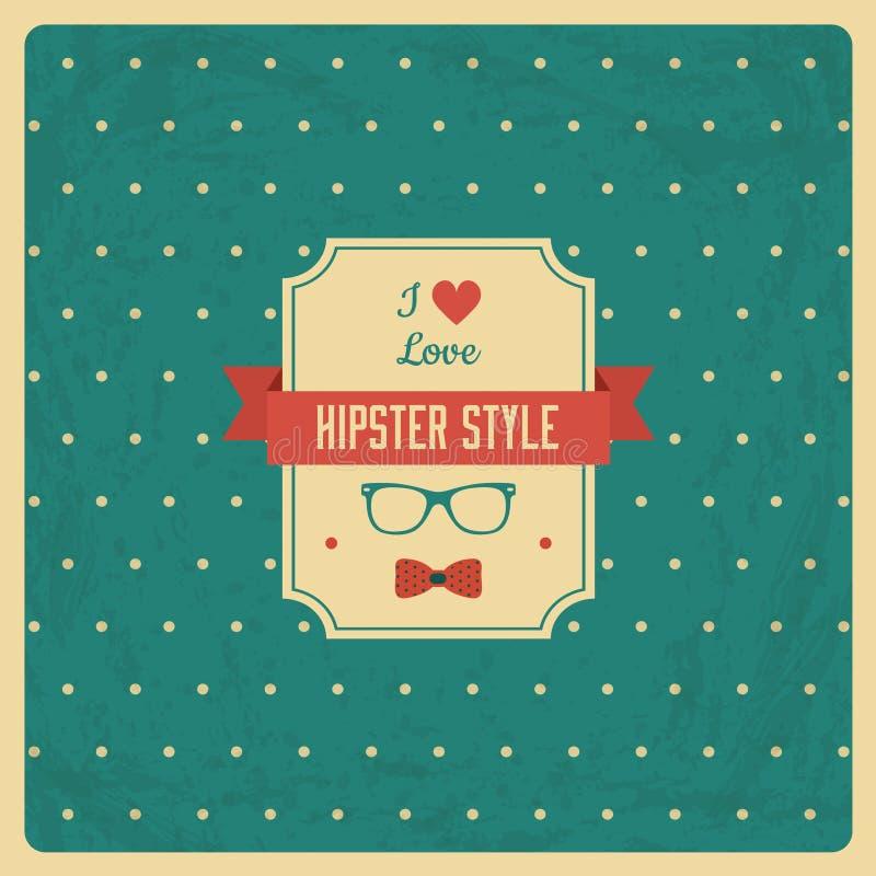 Uitstekende Achtergrond met Hipster-Etiket stock illustratie