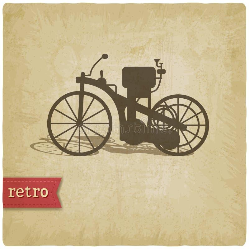 Uitstekende achtergrond met motorfiets stock illustratie