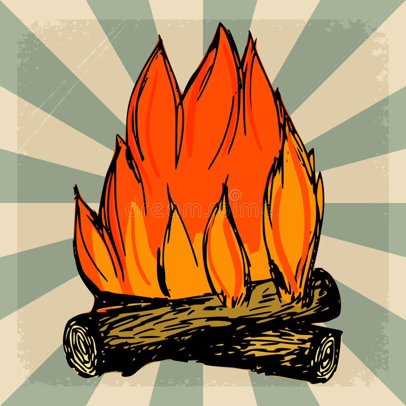 Download Uitstekende Achtergrond Met Vlam Stock Illustratie - Illustratie bestaande uit vlam, document: 54092587