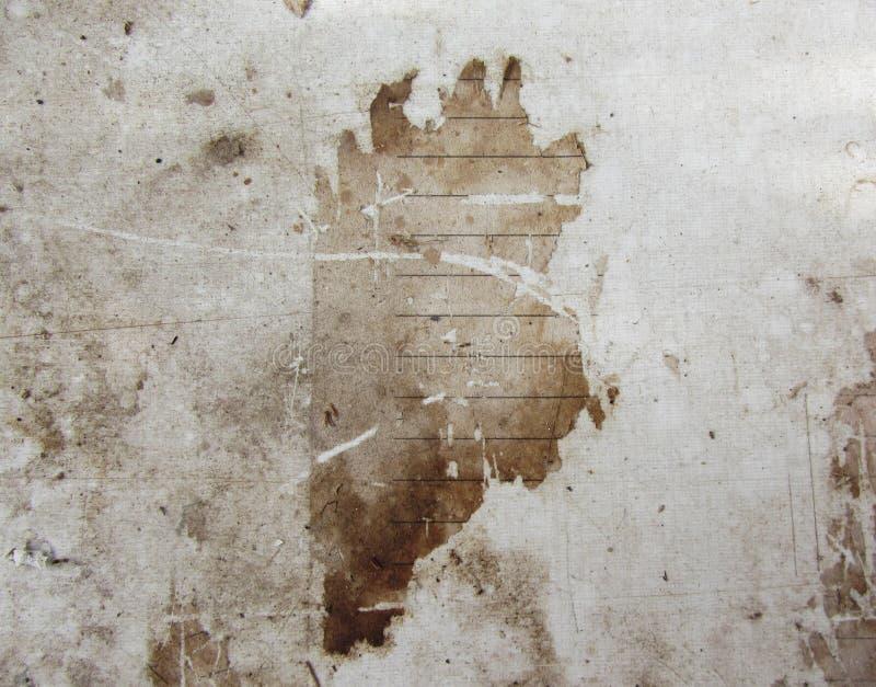 Uitstekende achtergrond textuur van oud document, vuile bruin stock illustratie