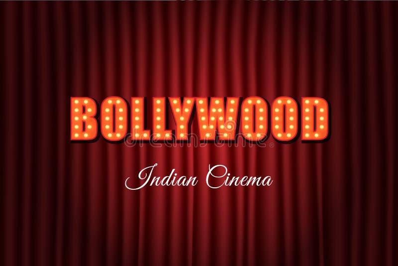 Uitstekende achtergrond van de Bollywood de Indische bioskoop stock illustratie