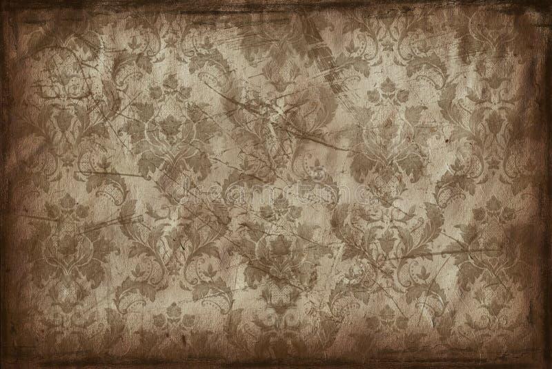 Uitstekende achtergrond van oud behang stock illustratie