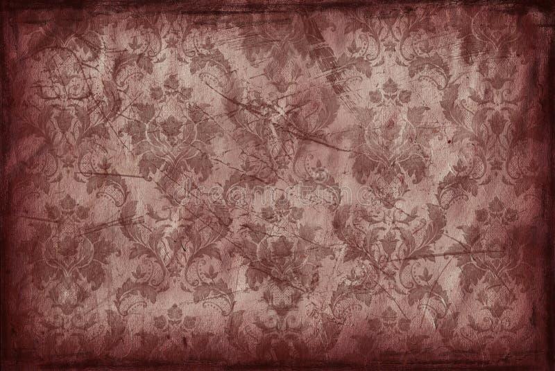 Uitstekende achtergrond van oud bruin behang royalty-vrije illustratie