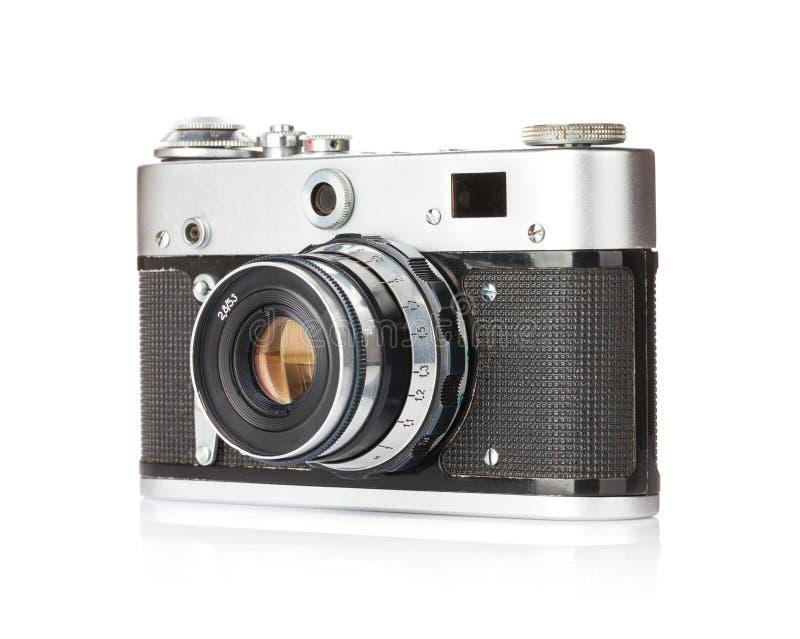 Uitstekende afstandsmetercamera die over wit wordt geïsoleerdn stock afbeeldingen