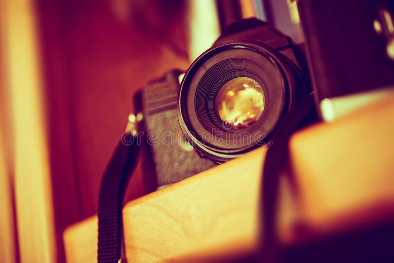 Uitstekende afstandsmetercamera die over wit wordt geïsoleerdn royalty-vrije stock foto's