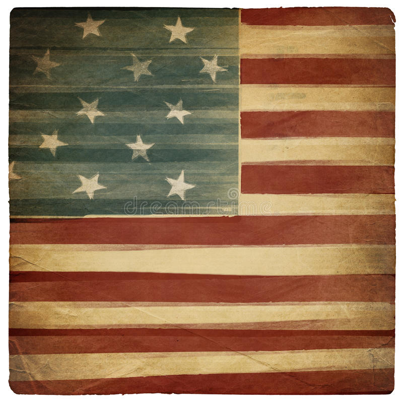 Uitstekende Amerikaanse patriottische achtergrond. royalty-vrije illustratie