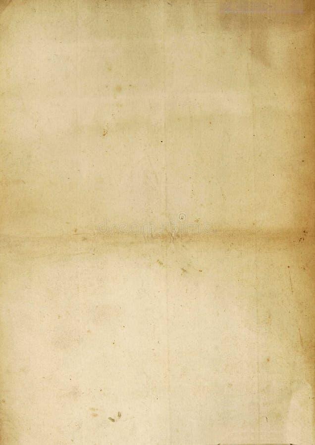 Uitstekende antieke document bladtextuur royalty-vrije stock afbeeldingen