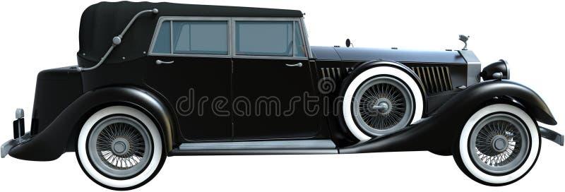 Uitstekende Antieke Limo, Geïsoleerde Limousine, Auto vector illustratie