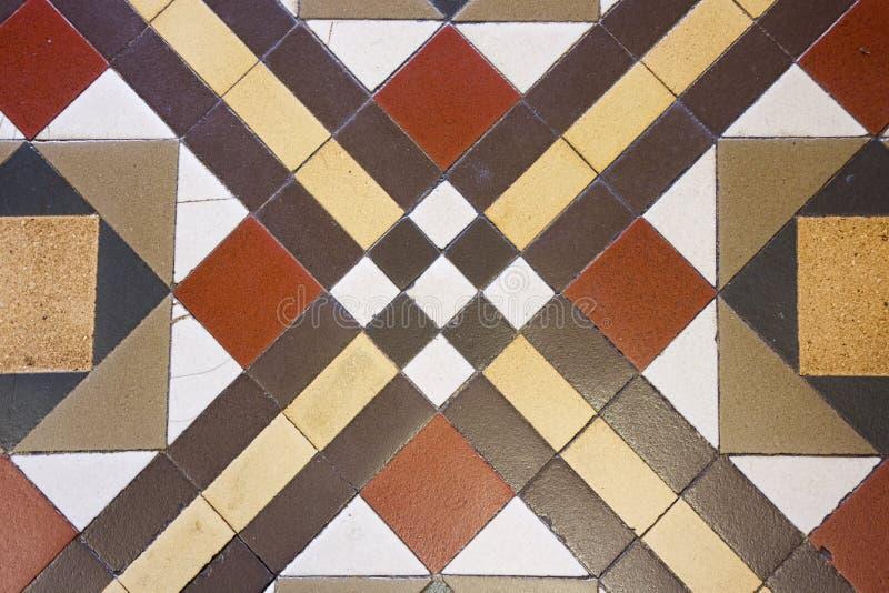 Uitstekende antieke Victoriaanse tegels in geometrisch patroon 2 royalty-vrije stock afbeelding