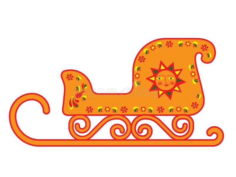 Uitstekende ar met ornament op witte achtergrond stock illustratie