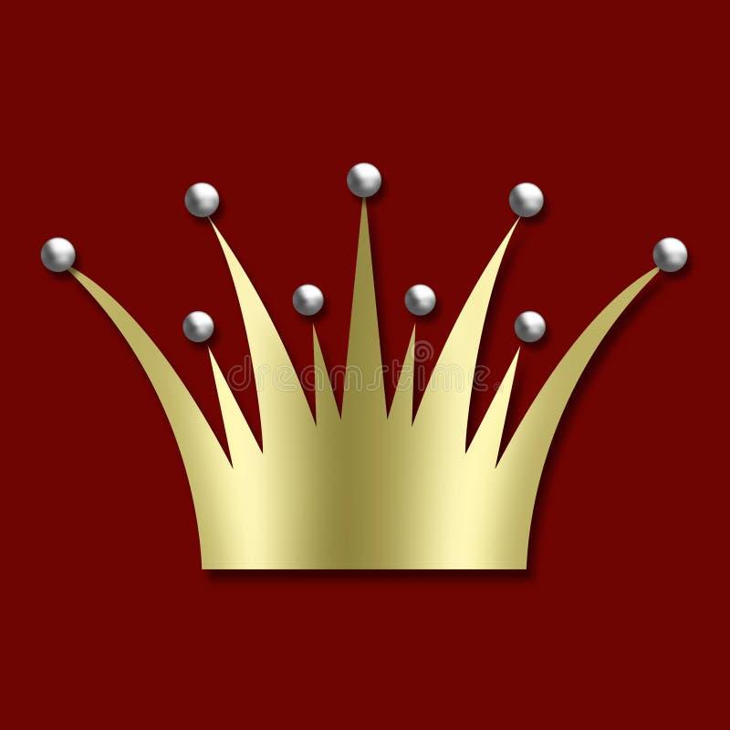 Uitstekende art decoKroon royalty-vrije illustratie