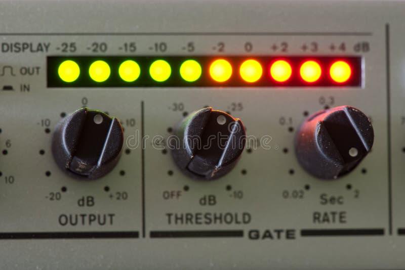Uitstekende audiomixer stock afbeelding