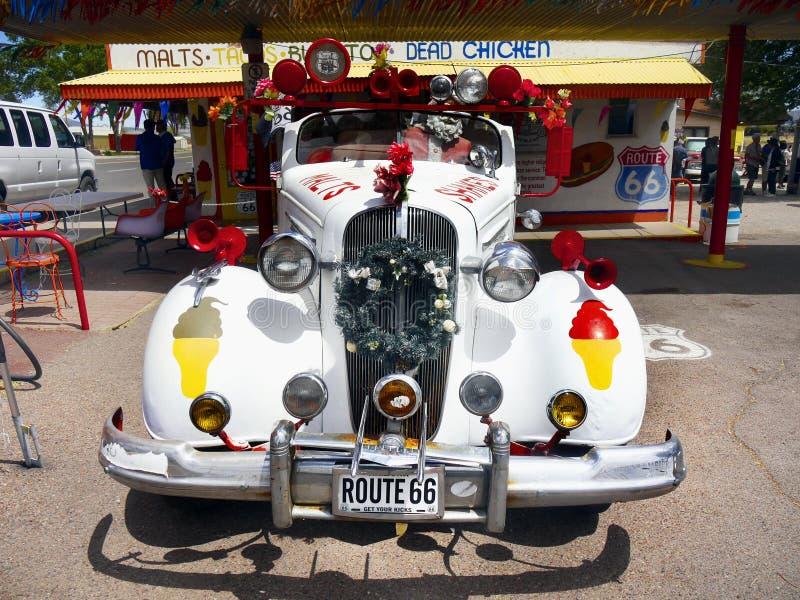 Uitstekende Auto Chevrolet, Seligman, Route 66, Arizona royalty-vrije stock afbeelding