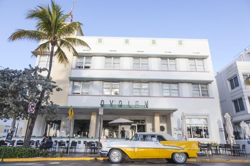 Uitstekende Auto in Miami royalty-vrije stock afbeelding
