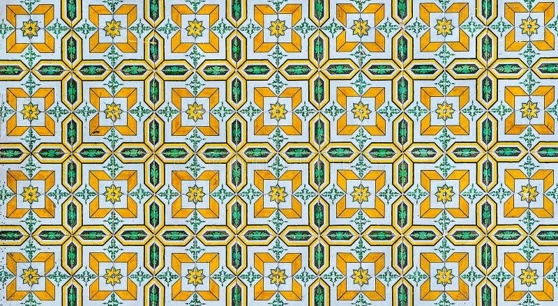 Uitstekende azulejos, traditionele Portugese tegels royalty-vrije illustratie