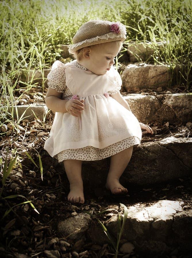 Uitstekende Baby royalty-vrije stock afbeelding