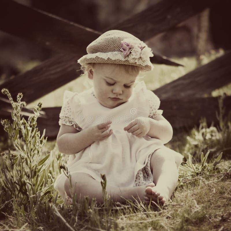 Uitstekende Baby royalty-vrije stock foto