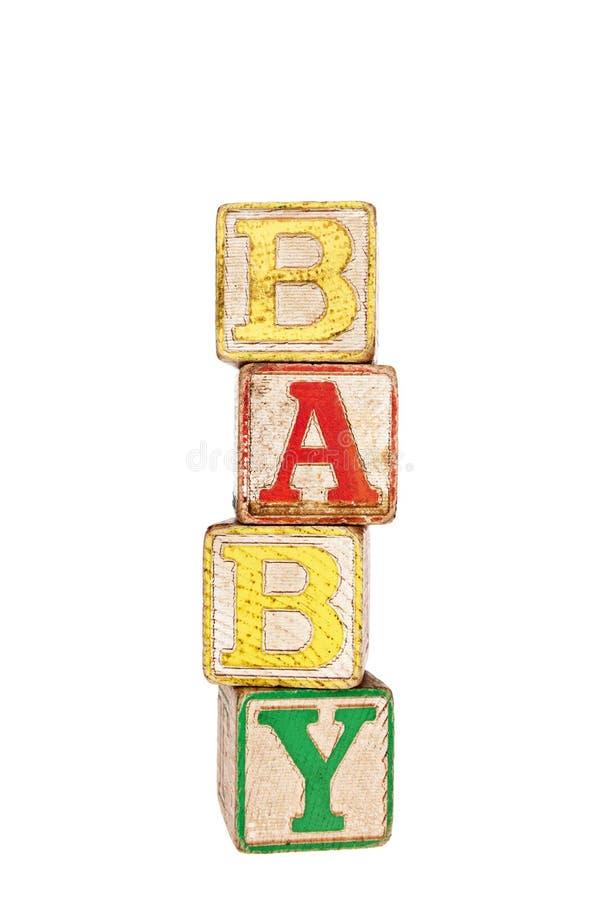 Uitstekende babyblokken royalty-vrije stock afbeeldingen