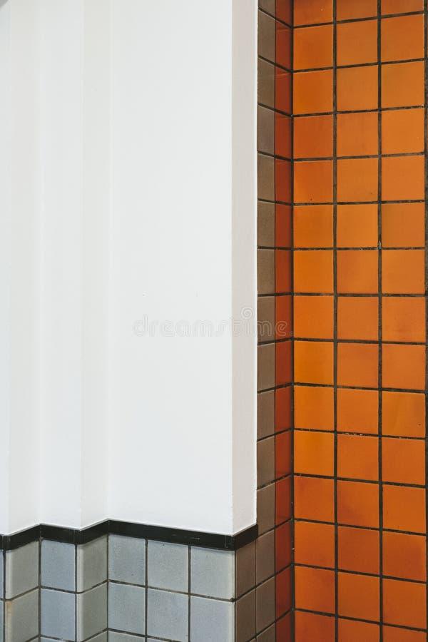 Uitstekende badkamerskeramische tegels royalty-vrije stock afbeelding
