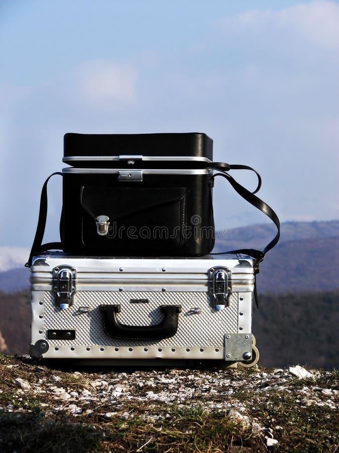 Uitstekende bagage royalty-vrije stock foto's