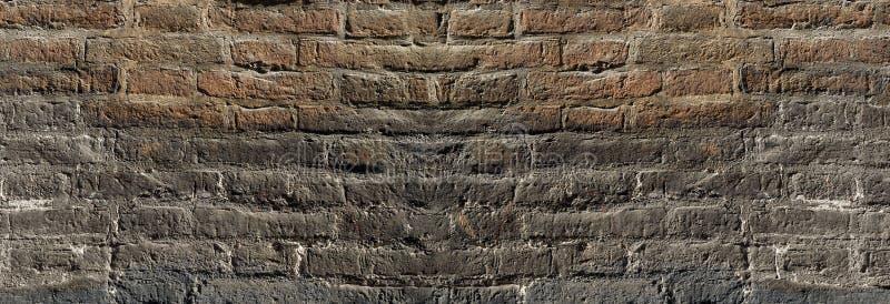 Uitstekende bakstenen muurtextuur die in tegenstelling voor ontwerp aansteken Panoramische achtergrond voor tekst en beeld royalty-vrije stock foto