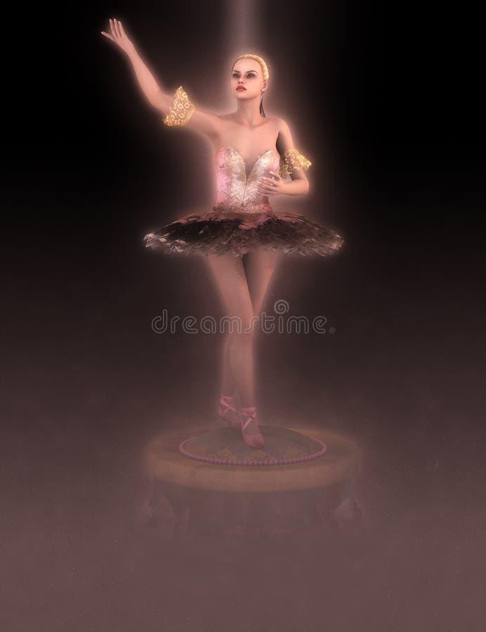 Uitstekende Ballerina royalty-vrije illustratie
