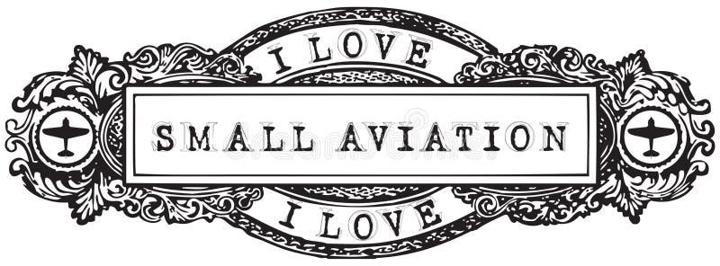 Uitstekende banner I Liefde Kleine Luchtvaart royalty-vrije illustratie