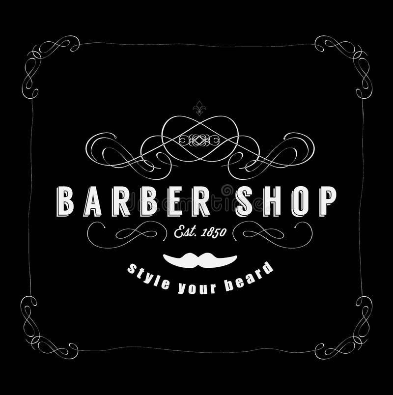 Uitstekende Barber Shop Badg royalty-vrije illustratie