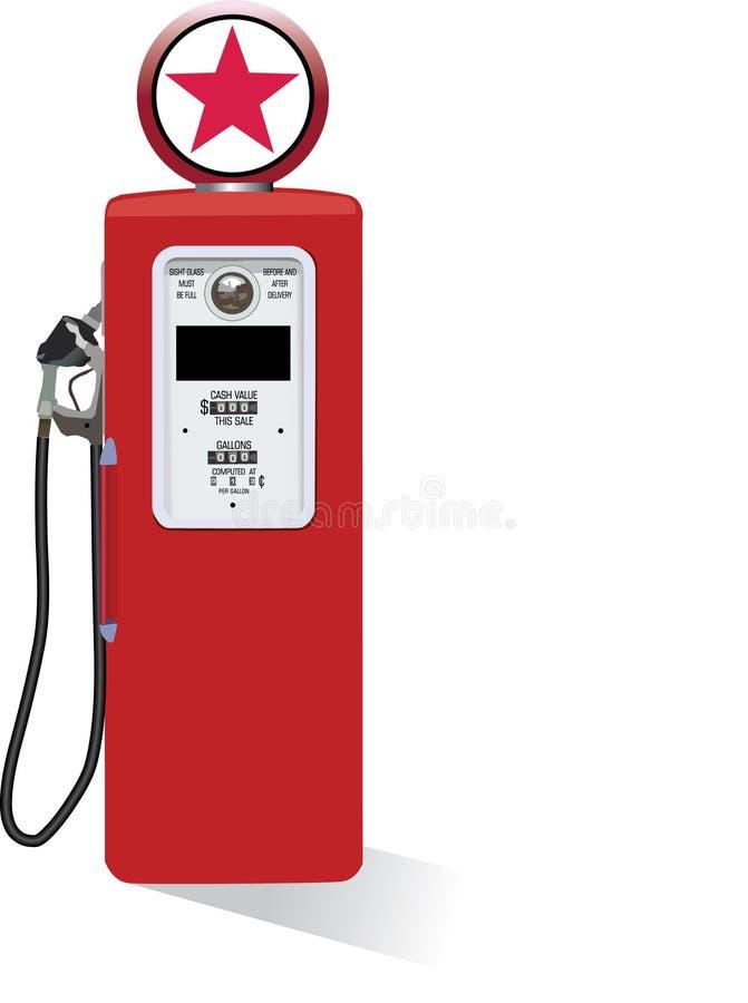Uitstekende benzinepomp stock illustratie