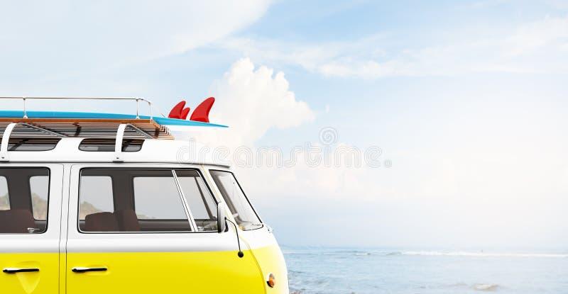 Uitstekende bestelwagen door overzees stock fotografie