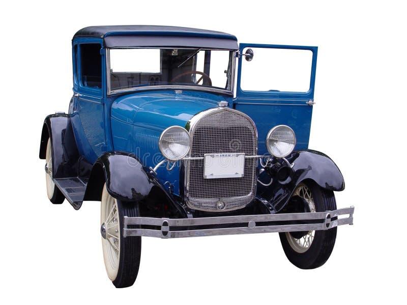 Uitstekende blauwe auto royalty-vrije stock afbeeldingen