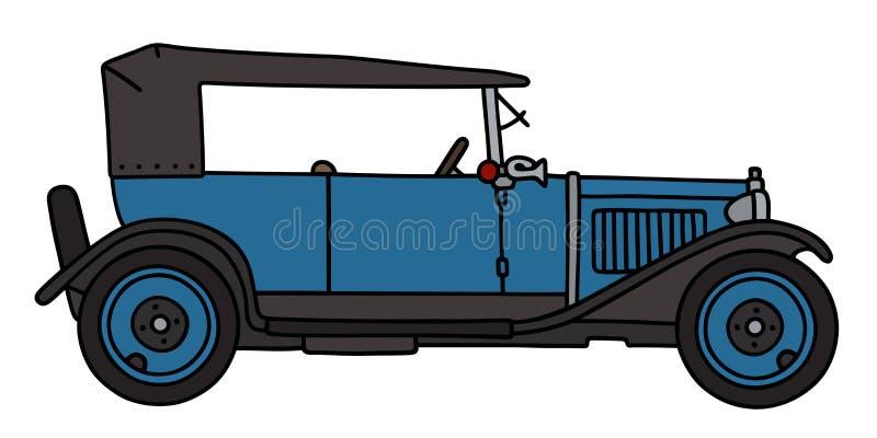 Uitstekende blauwe cabriolet royalty-vrije illustratie