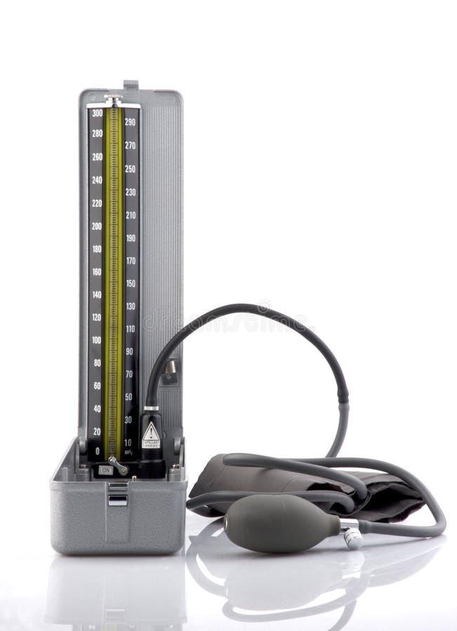 Uitstekende bloeddrukmaat - manometer stock foto