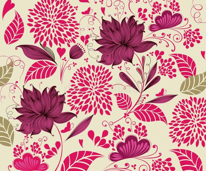 Uitstekende bloemachtergrond vector illustratie