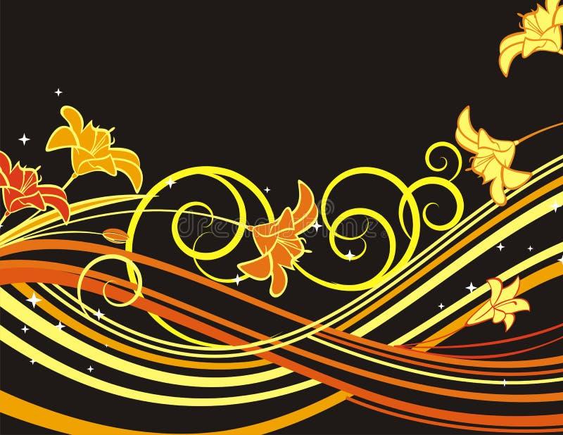 Uitstekende bloemenachtergrond vector illustratie