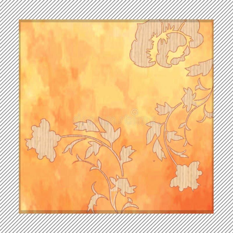 Uitstekende bloemenachtergrond met bloemen royalty-vrije illustratie