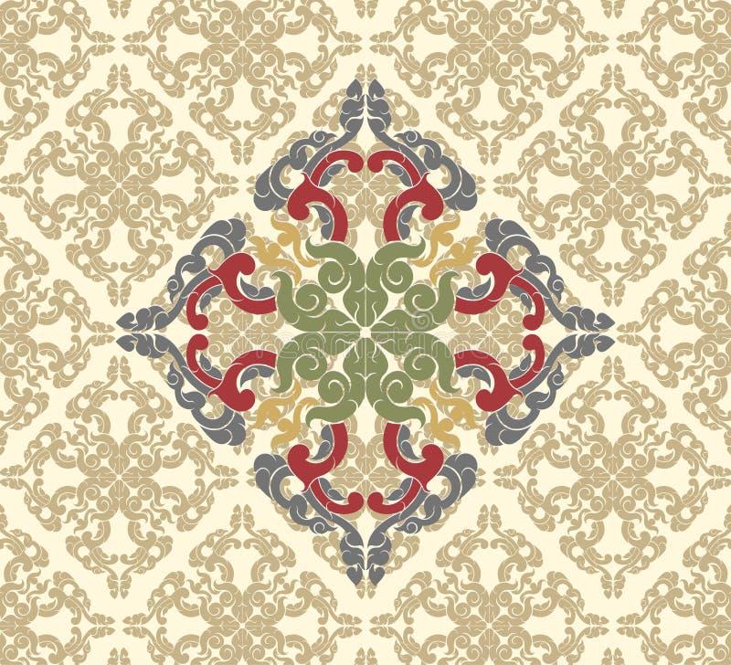 Uitstekende bloemenpatroonscène vector illustratie