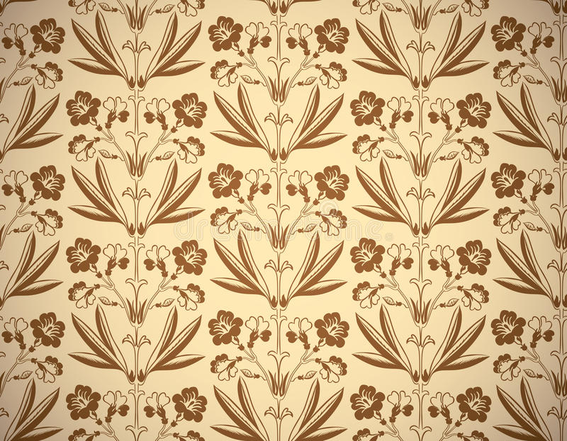 Uitstekende bloemenstijl naadloze achtergrond vector illustratie
