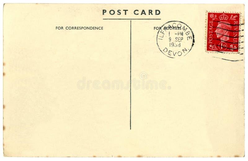Uitstekende Britse prentbriefkaar stock fotografie