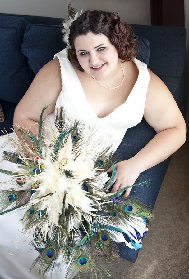 Uitstekende bruid royalty-vrije stock afbeeldingen