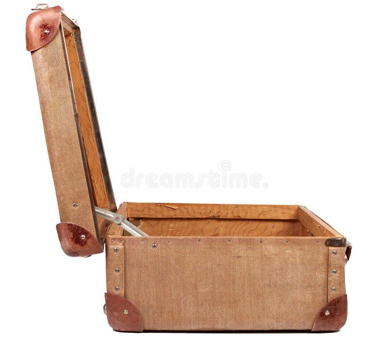 Uitstekende bruine koffer stock foto's
