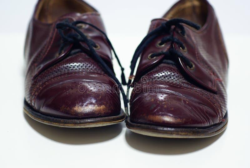 Uitstekende Bruine Schoenen royalty-vrije stock fotografie