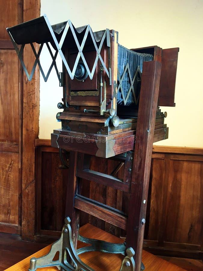 Uitstekende Camera in Museo Remigio Crespo Toral, Cuenca Ecuador royalty-vrije stock foto