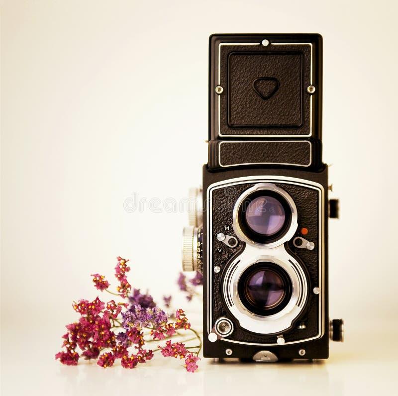 Uitstekende camera tlr royalty-vrije stock afbeelding